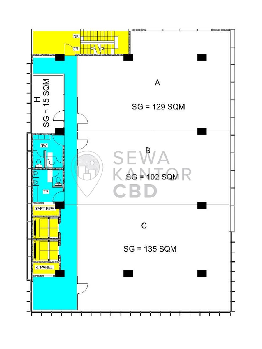 Sewa Kantor Gedung Gedung Sarana Jaya 3 Jakarta Pusat Cempaka Putih  Jakarta Floor Plans 1
