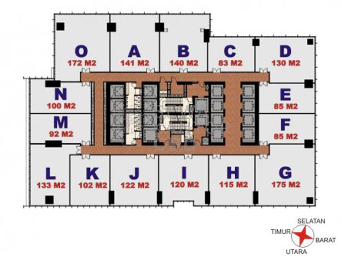 Sewa Kantor Gedung Jakarta Box Tower Jakarta Pusat Menteng  Jakarta Floor Plans 1