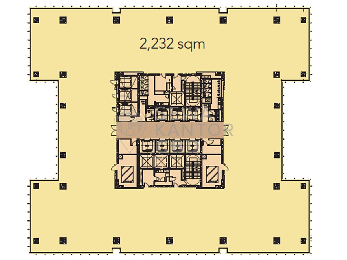 Sewa Kantor Gedung MNC Media Tower Jakarta Pusat Menteng  Jakarta Floor Plans 1