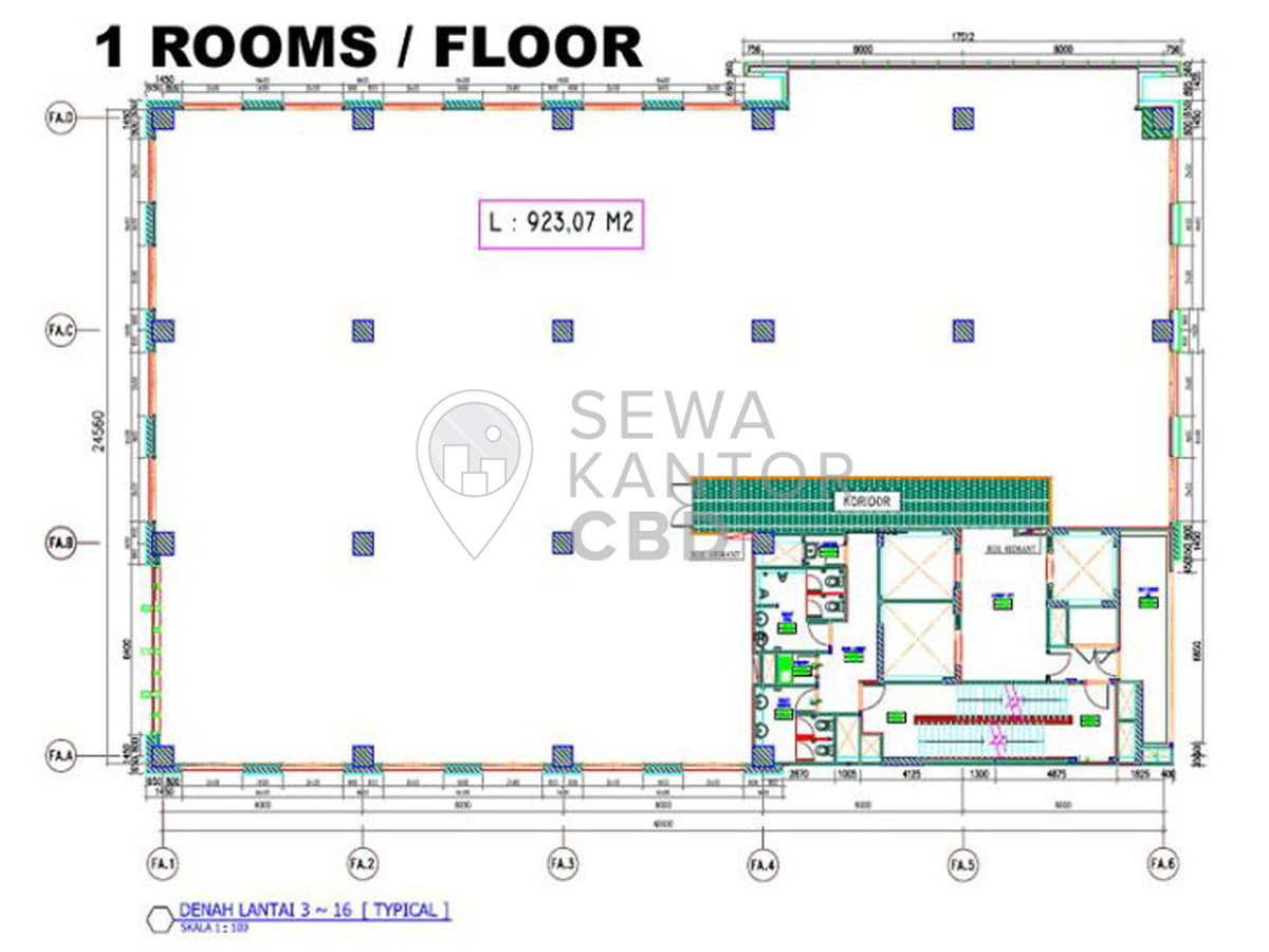 Sewa Kantor Gedung Honeylady Tower Jakarta Utara Penjaringan  Jakarta Floor Plans 3