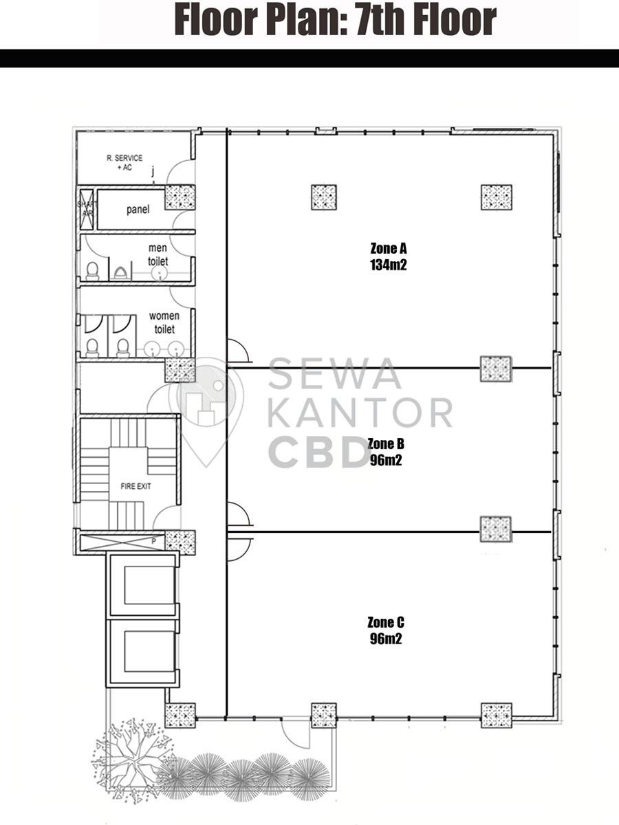 Sewa Kantor Gedung Graha MIR Jakarta Timur Pulo Gadung  Jakarta Floor Plans 5