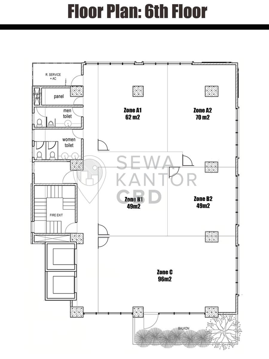 Sewa Kantor Gedung Graha MIR Jakarta Timur Pulo Gadung  Jakarta Floor Plan