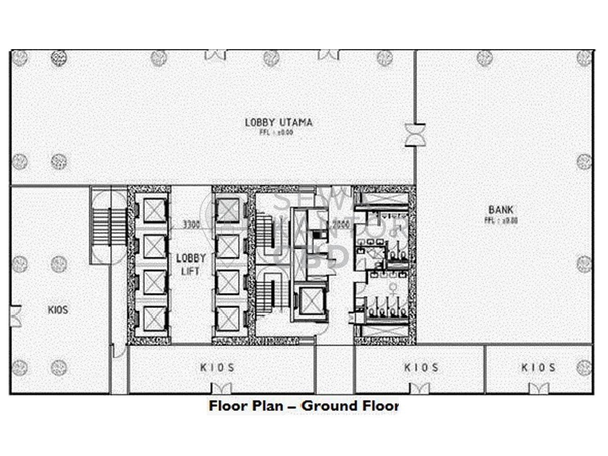 Sewa Kantor Gedung L' Avenue office Jakarta Selatan Pancoran  Jakarta Floor Plans 2