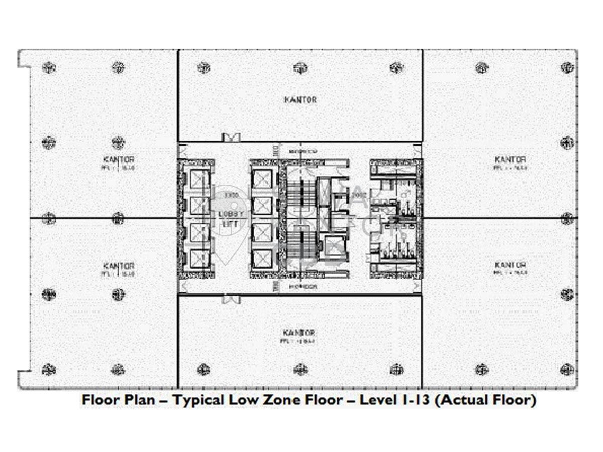 Sewa Kantor Gedung L' Avenue office Jakarta Selatan Pancoran  Jakarta Floor Plan
