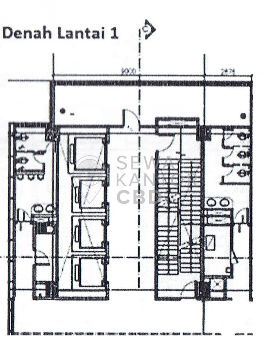 Sewa Kantor Gedung Graha Lestari Jakarta Pusat Gambir  Jakarta Floor Plans 3