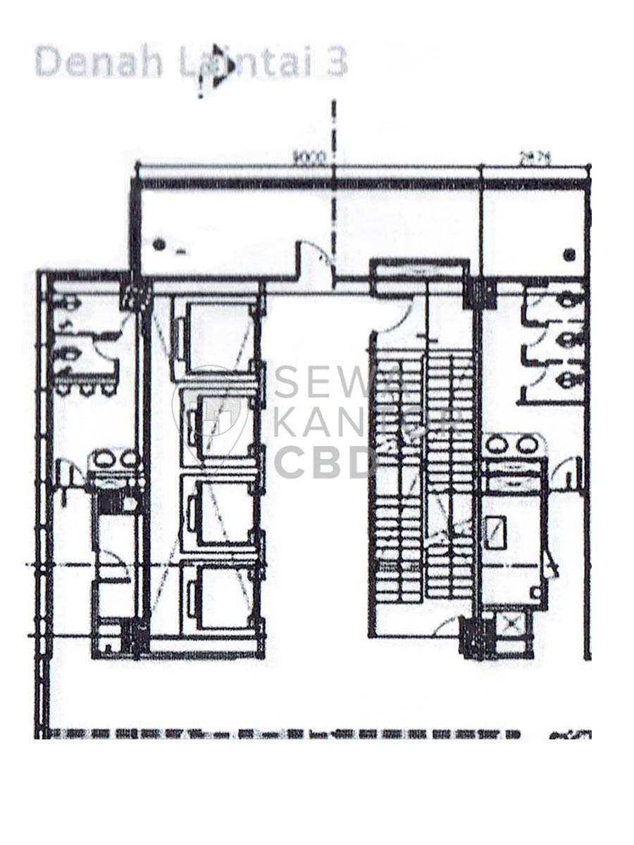 Sewa Kantor Gedung Graha Lestari Jakarta Pusat Gambir  Jakarta Floor Plans 2