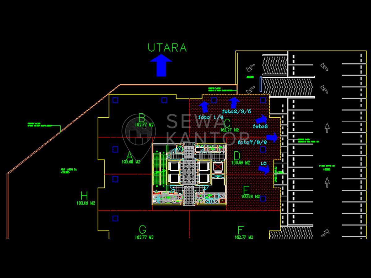 Sewa Kantor Gedung Maspion Plaza Jakarta Utara Pademangan  Jakarta Floor Plan