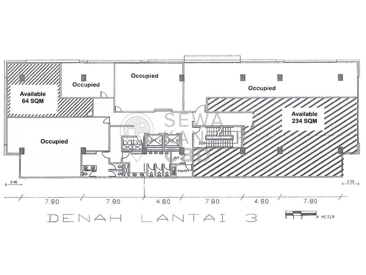 Sewa Kantor Gedung Gedung Konica Jakarta Pusat Kemayoran  Jakarta Floor Plan