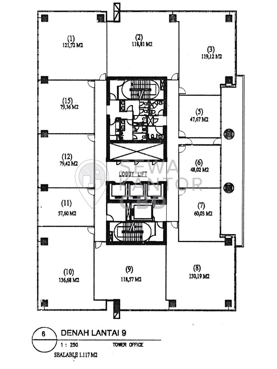 Sewa Kantor Gedung ITS Office Tower Jakarta Selatan Pancoran  Jakarta Floor Plans 3