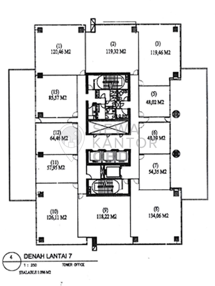 Sewa Kantor Gedung ITS Office Tower Jakarta Selatan Pancoran  Jakarta Floor Plans 4
