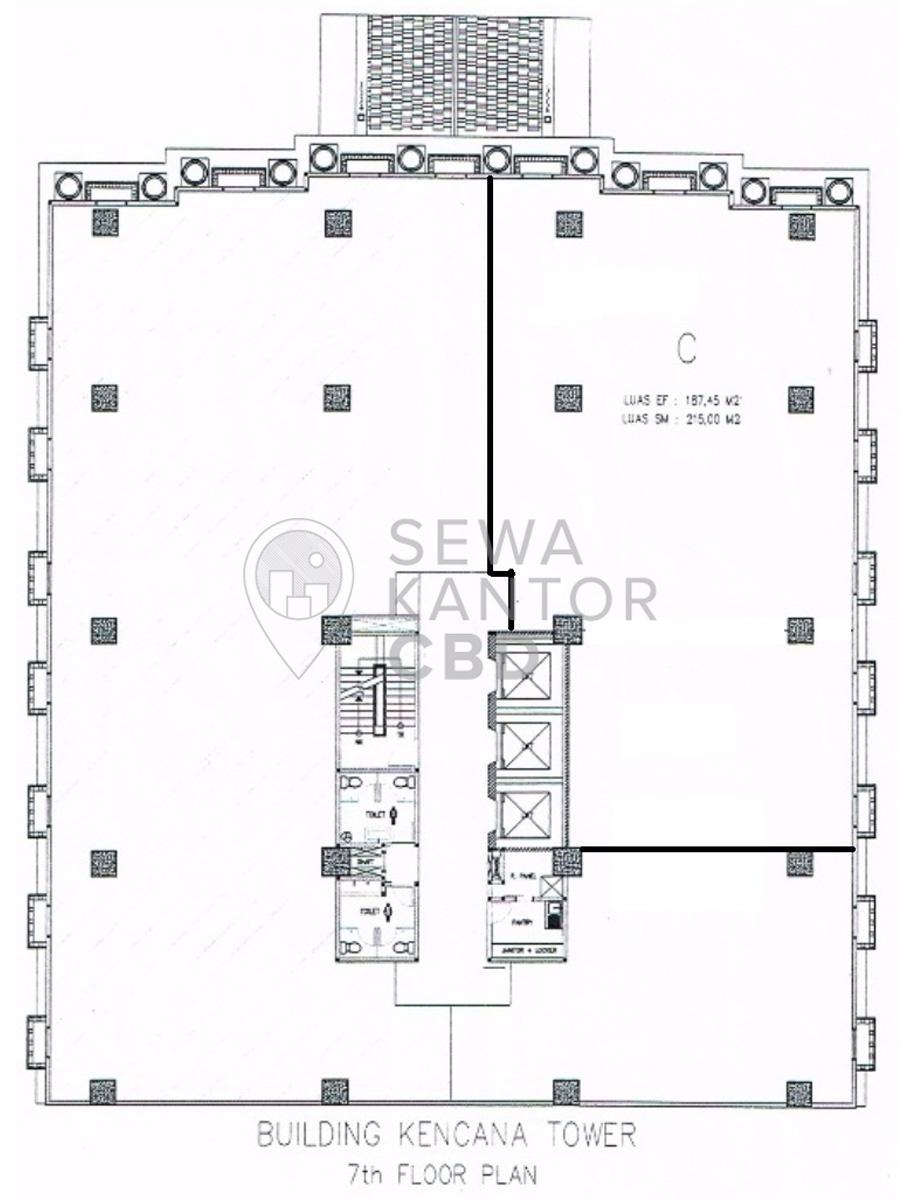 Sewa Kantor Gedung Kencana Tower Jakarta Barat Kembangan  Jakarta Floor Plan