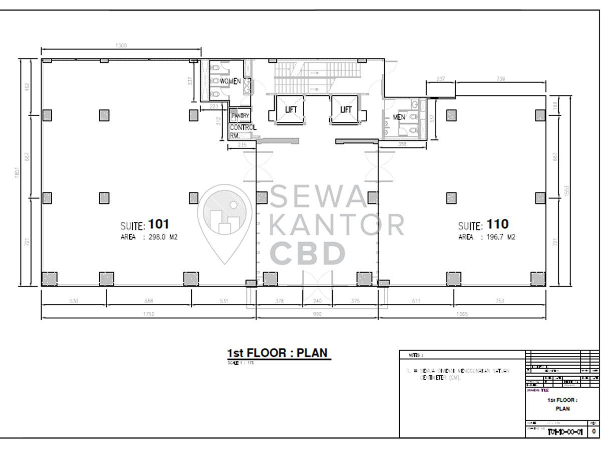 Sewa Kantor Gedung KMO Building Jakarta Selatan Kebayoran Baru  Jakarta Floor Plans 2