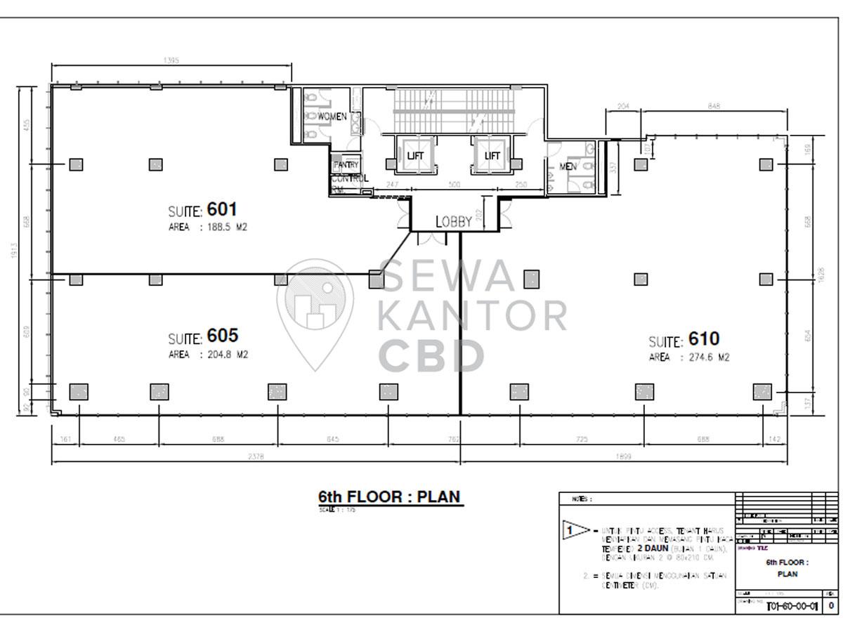 Sewa Kantor Gedung KMO Building Jakarta Selatan Kebayoran Baru  Jakarta Floor Plans 1