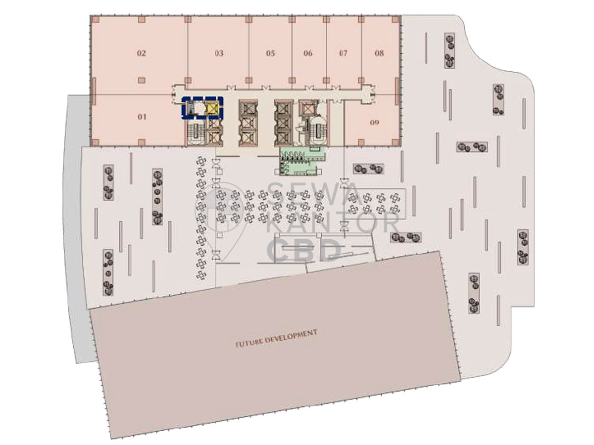 Sewa Kantor Gedung M-Town Office Tower I Serpong Kelapa Dua  Banten Floor Plans 2