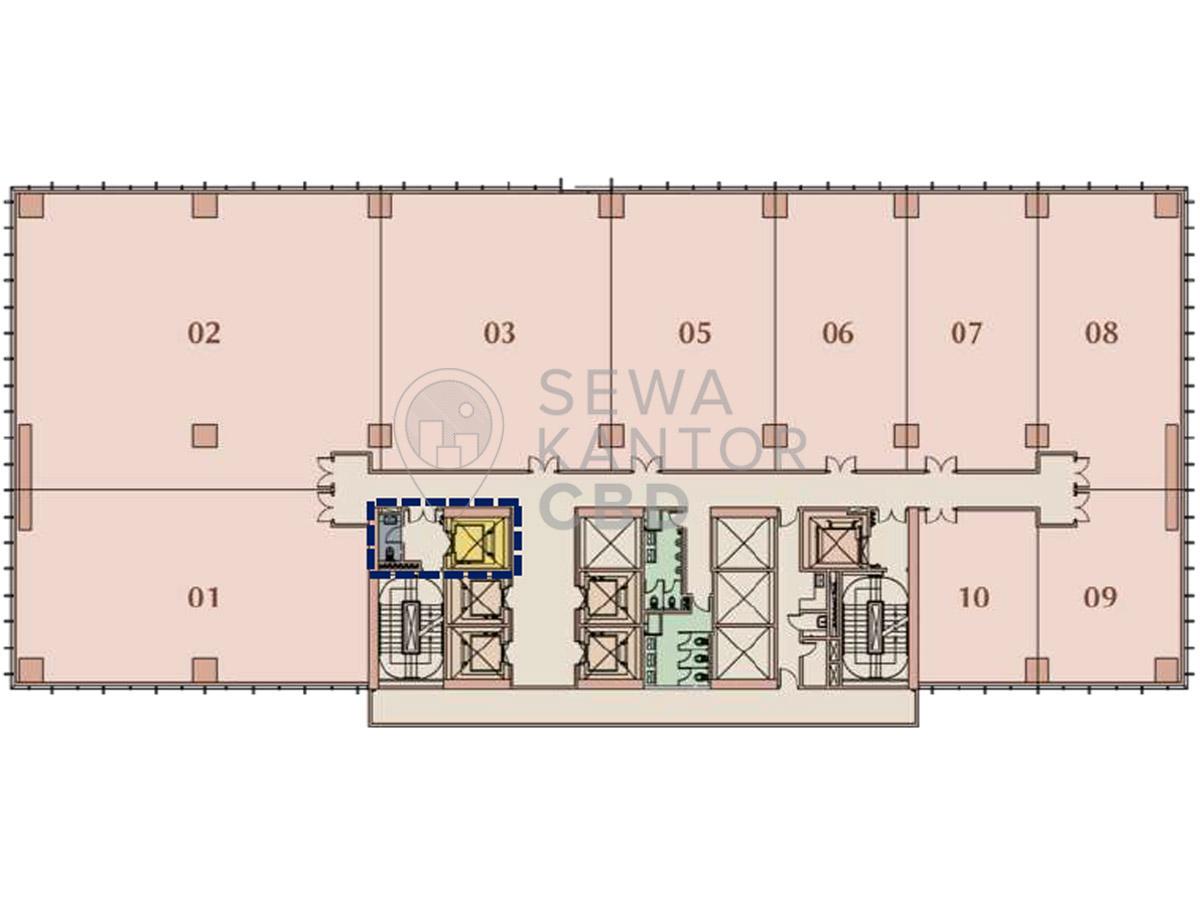 Sewa Kantor Gedung M-Town Office Tower I Serpong Kelapa Dua  Banten Floor Plans 1