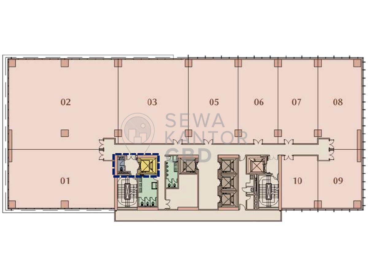 Sewa Kantor Gedung M-Town Office Tower I Serpong Kelapa Dua  Banten Floor Plan