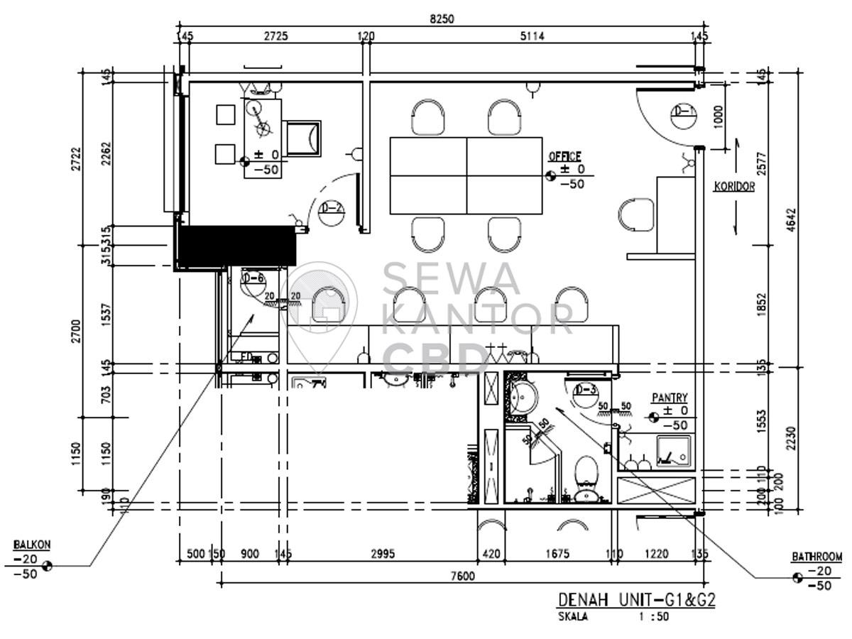 Sewa Kantor Gedung Fontana Office Tower Jakarta Utara Pademangan  Jakarta Floor Plans 5