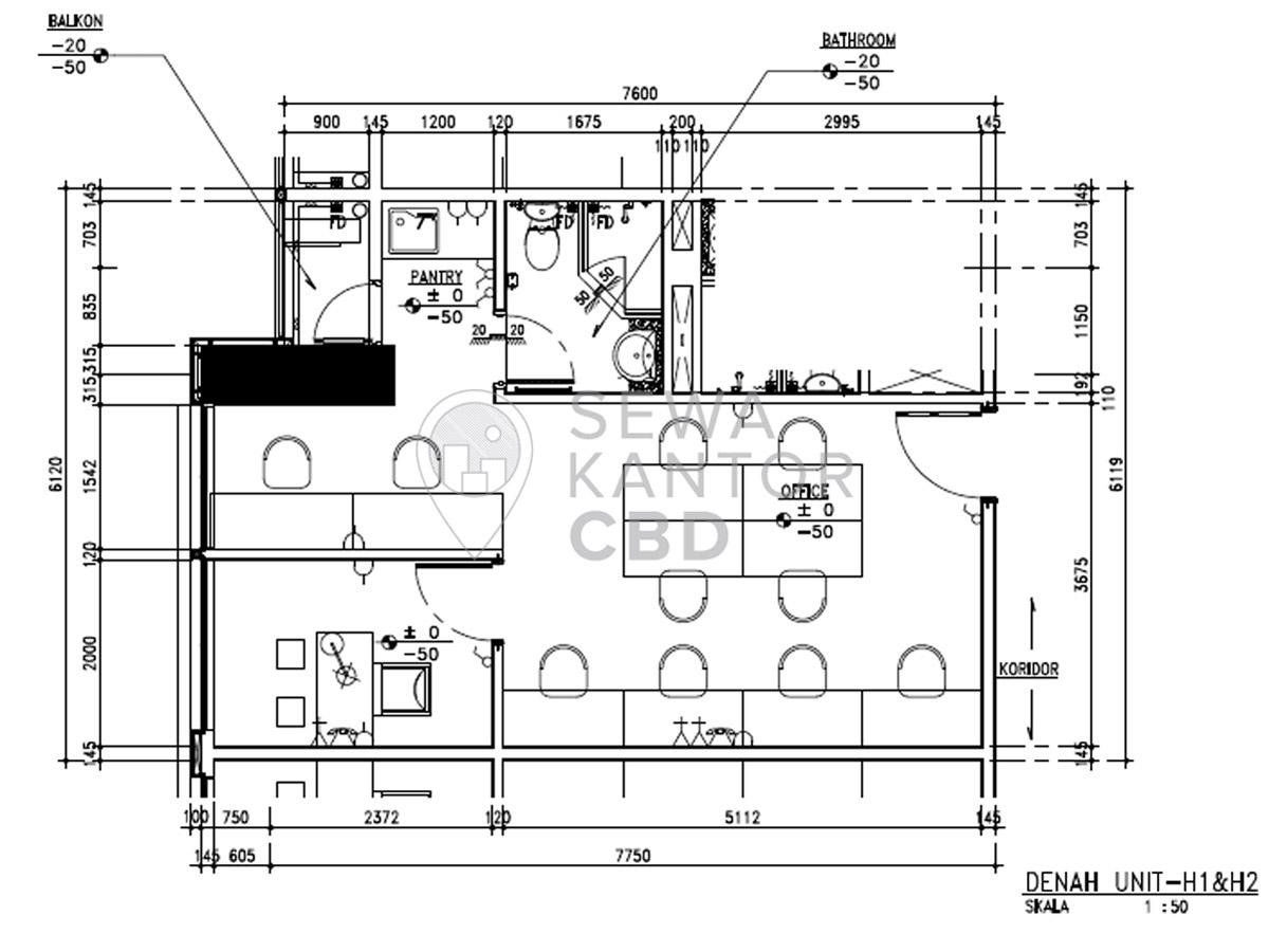 Sewa Kantor Gedung Fontana Office Tower Jakarta Utara Pademangan  Jakarta Floor Plans 4