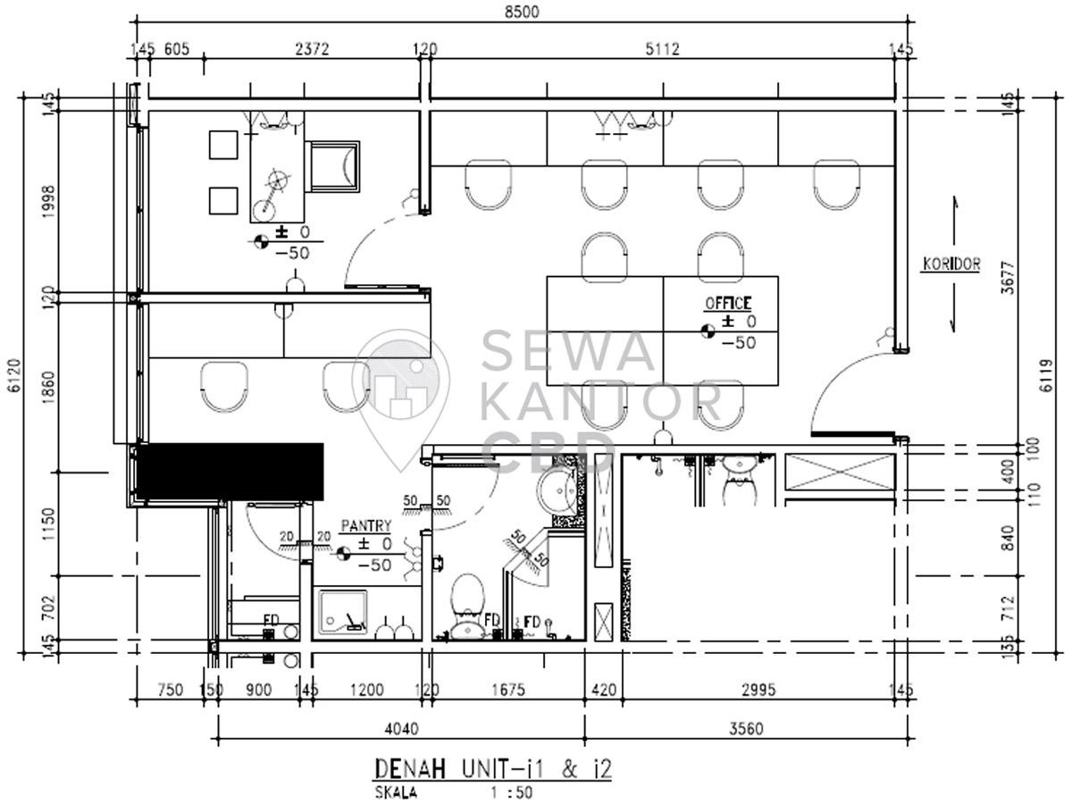 Sewa Kantor Gedung Fontana Office Tower Jakarta Utara Pademangan  Jakarta Floor Plans 3