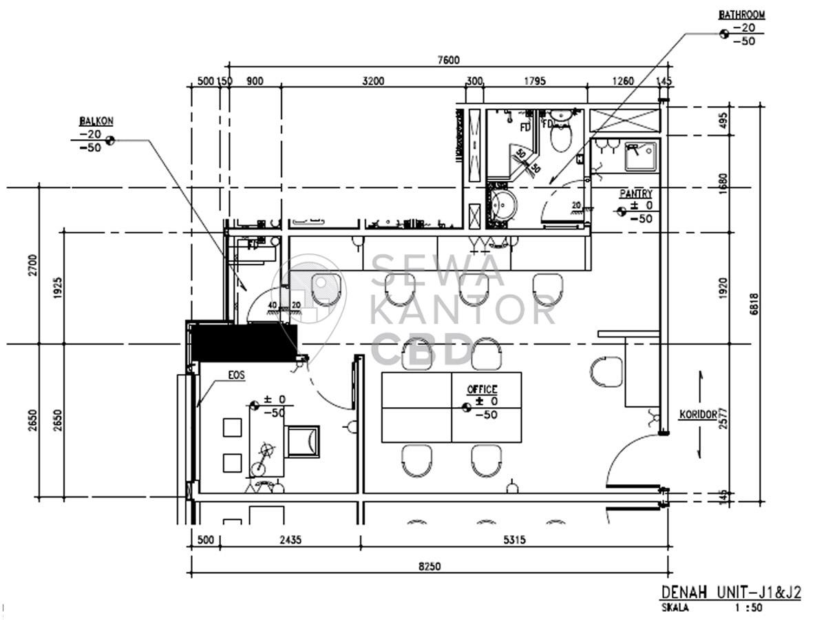 Sewa Kantor Gedung Fontana Office Tower Jakarta Utara Pademangan  Jakarta Floor Plans 2