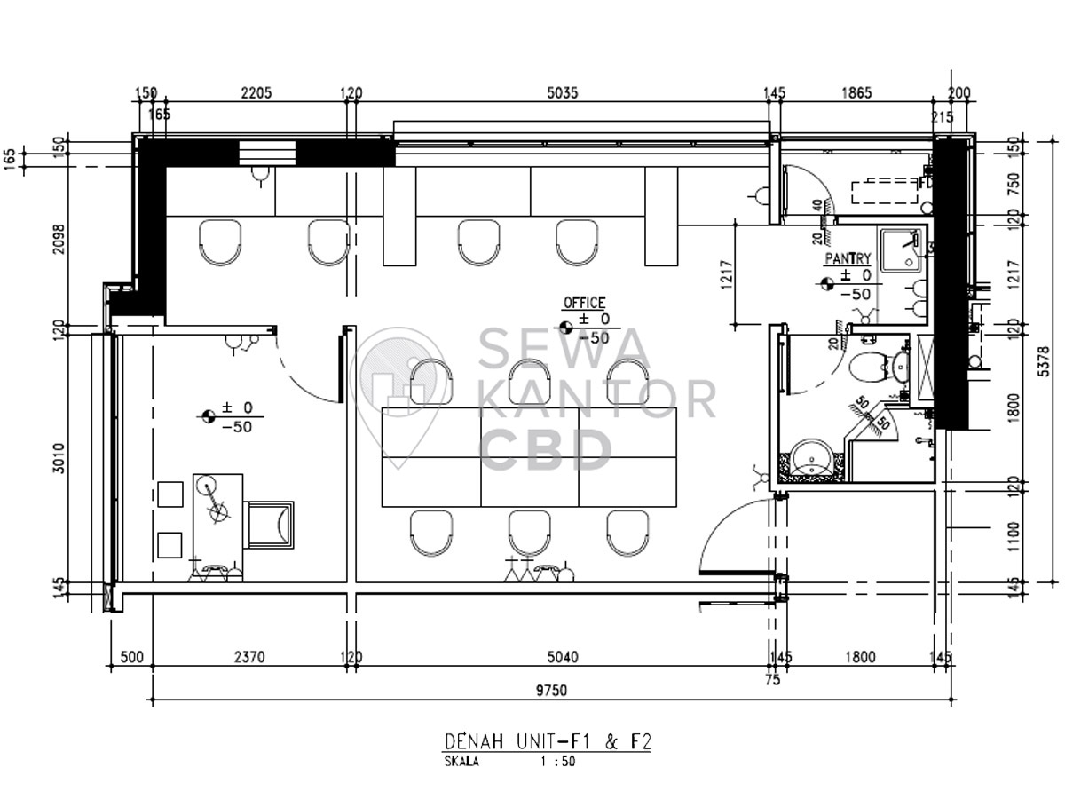 Sewa Kantor Gedung Fontana Office Tower Jakarta Utara Pademangan  Jakarta Floor Plan