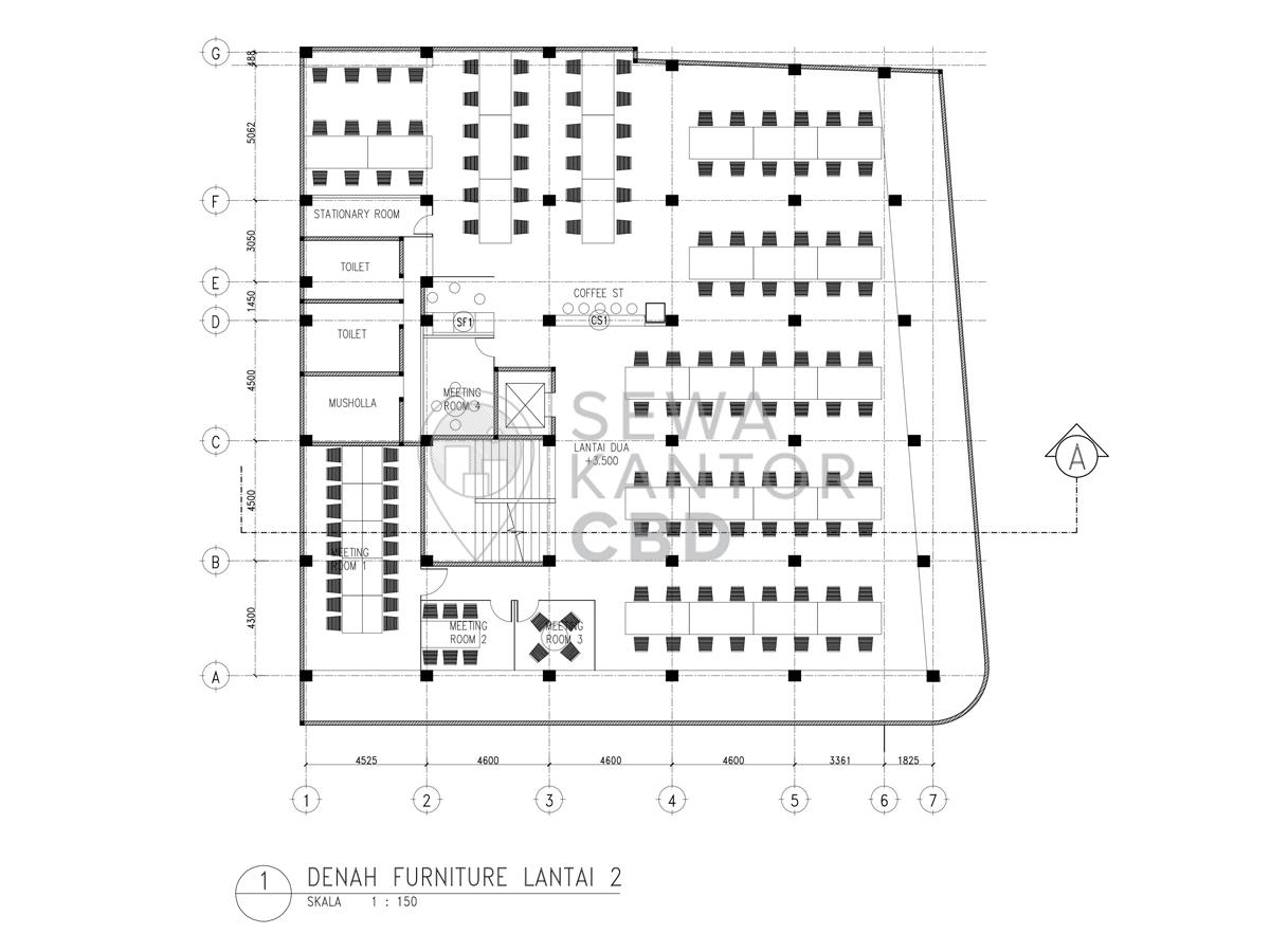 Sewa Kantor Gedung Berrybenka Headquarter Jakarta Pusat Tanah Abang  Jakarta Floor Plan