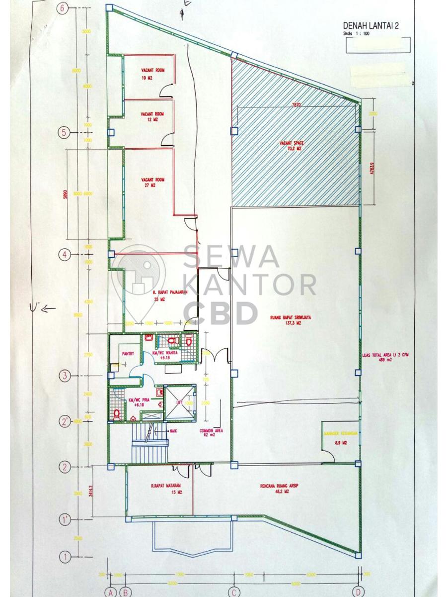 Sewa Kantor Gedung Gedung CFM Jakarta Pusat Tanah Abang  Jakarta Floor Plan