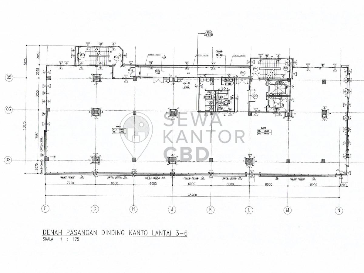 Sewa Kantor Gedung Kebayoran Icon Office Building  Jakarta Selatan Kebayoran Lama  Jakarta Floor Plans 1