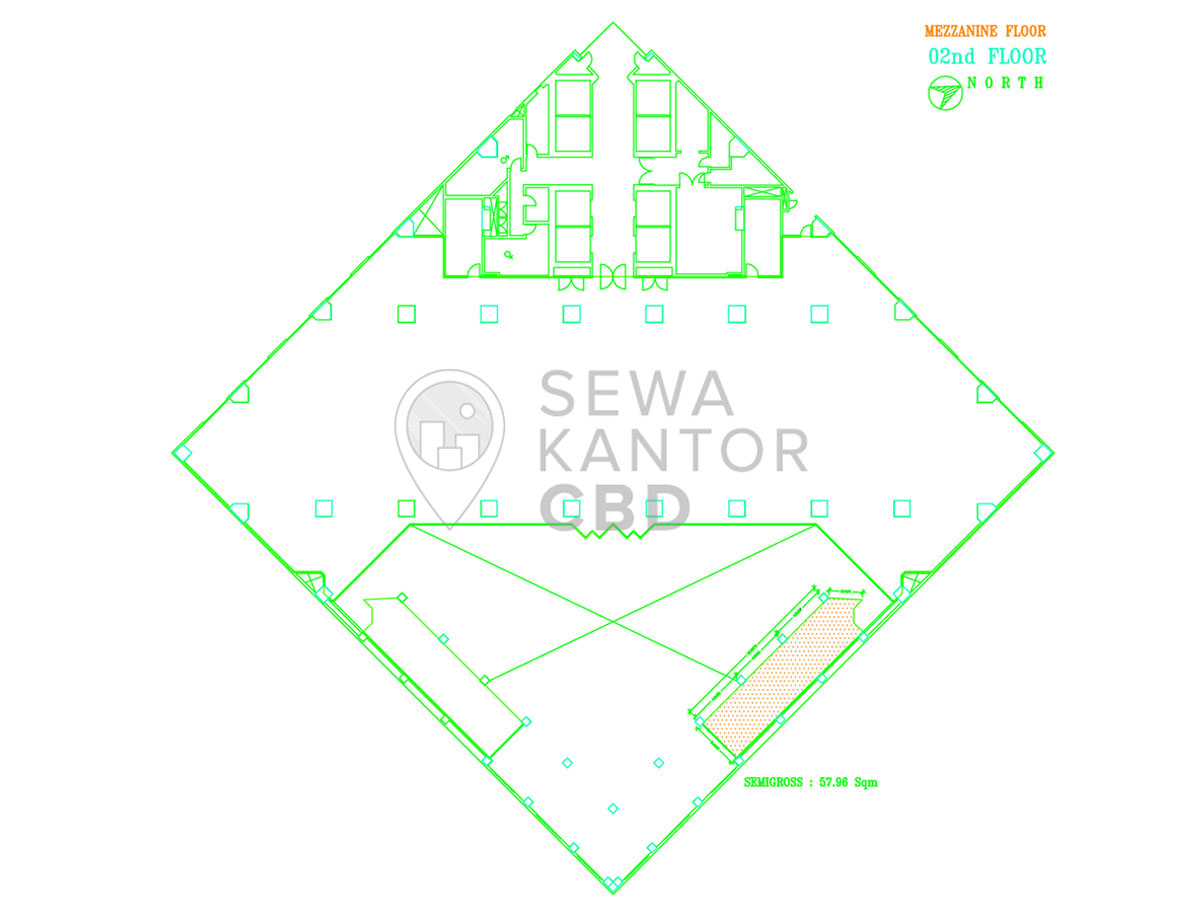 Sewa Kantor Gedung ANZ Tower Jakarta Pusat Tanah Abang Sudirman Jakarta Floor Plan