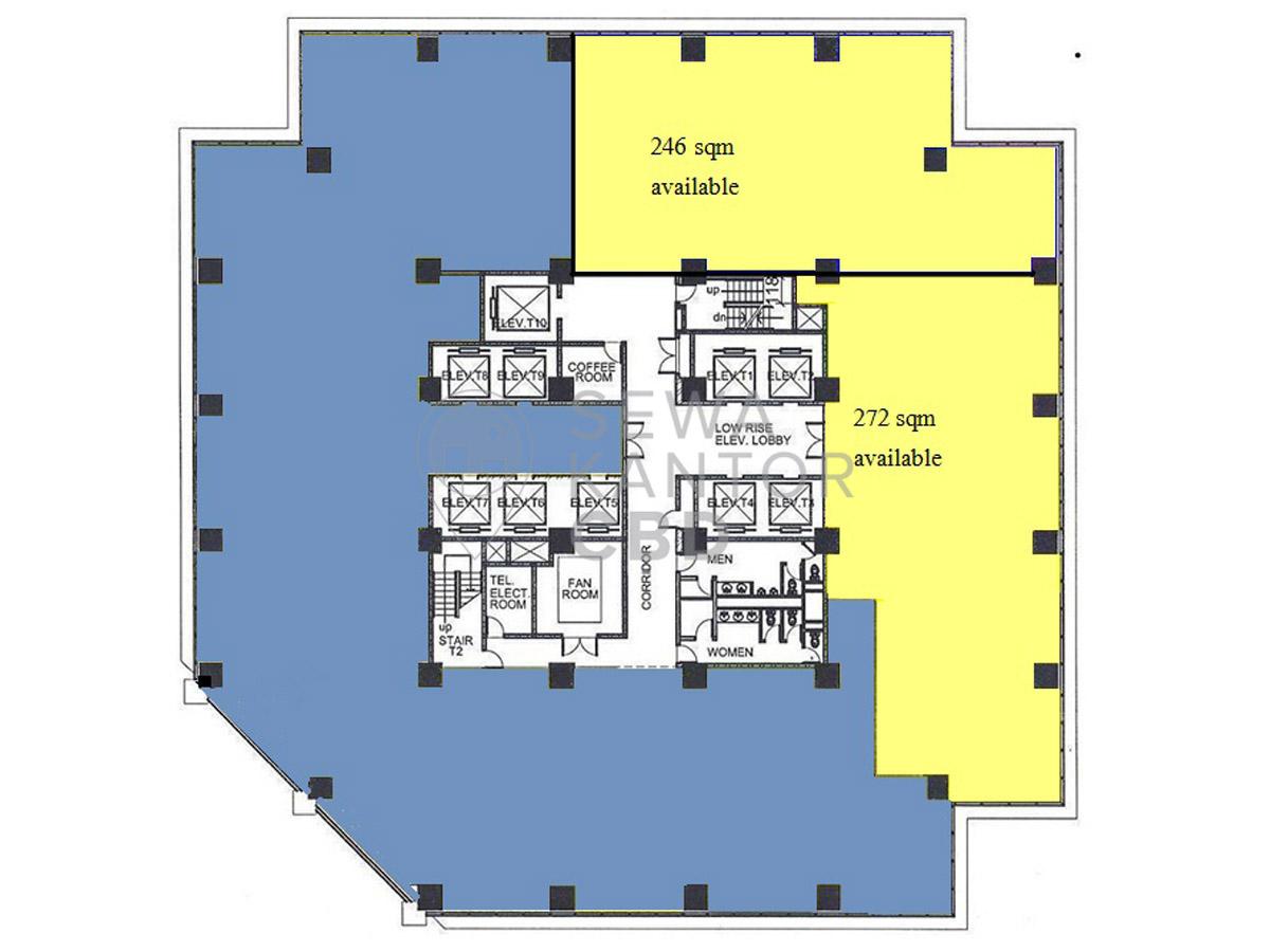 Sewa Kantor Gedung Chase Plaza Rise Jakarta Selatan Setiabudi Sudirman Jakarta Floor Plans 1