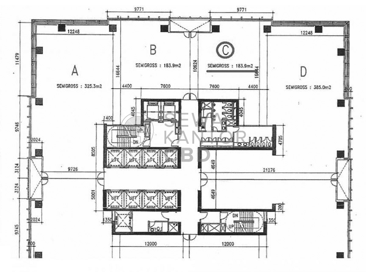 Sewa Kantor Gedung Equity Tower Jakarta Selatan Kebayoran Baru Sudirman Jakarta Floor Plans 2