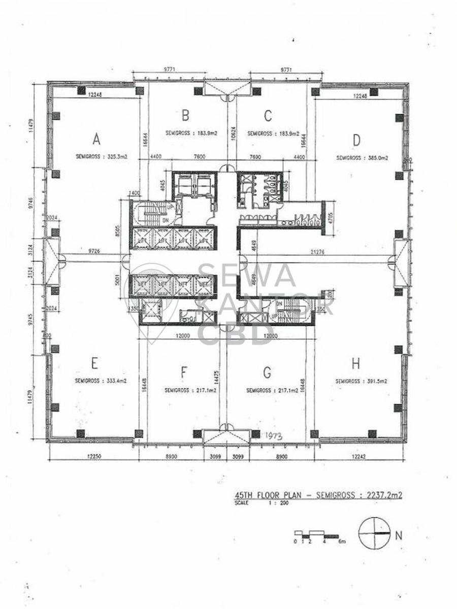 Sewa Kantor Gedung Equity Tower Jakarta Selatan Kebayoran Baru Sudirman Jakarta Floor Plan