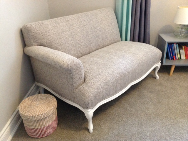 Upholstered Loveseat by Sensational Seams