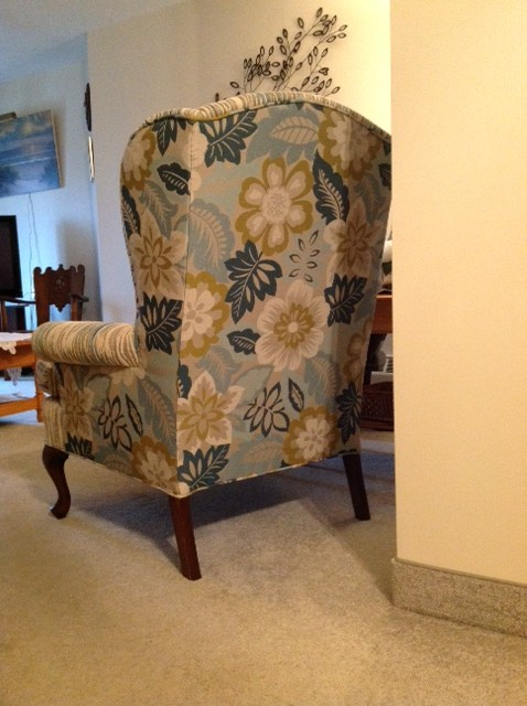 Floral Wingback Upholstered Chair by Sensational Seams