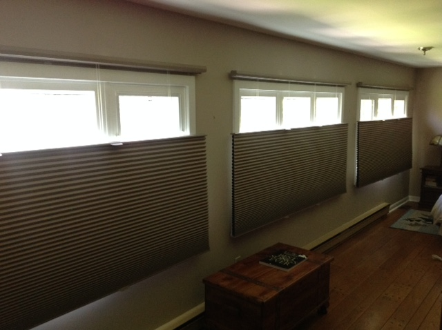 Honeycomb Window Treatments From Sensational Seams