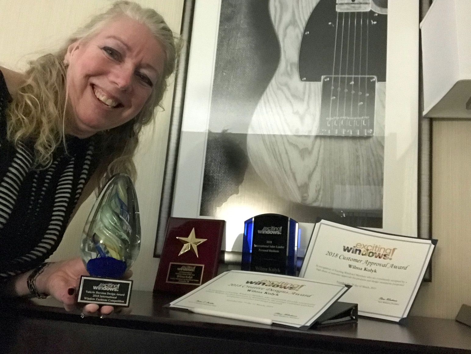 Wilma Kulyk with her Awards.