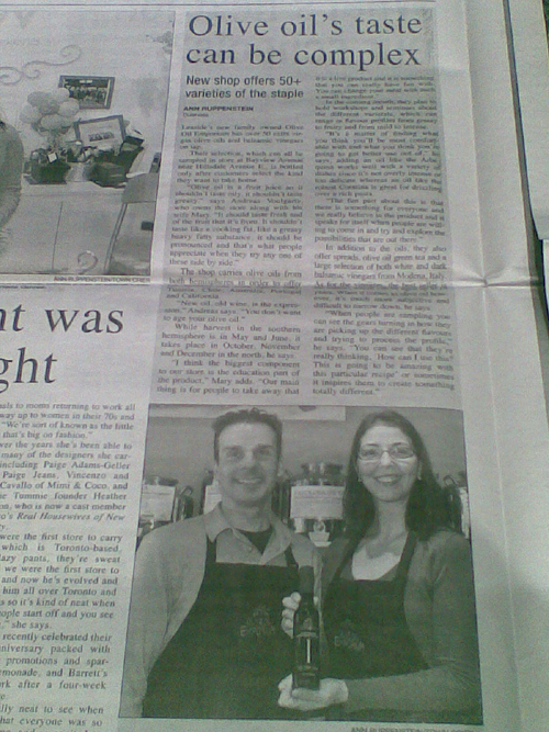 Olive Oil Emporium in the Local News