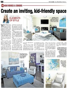 Create an Inviting, Kid-Friendly Space - Newspaper mentions for Royal Interior Design Ltd.