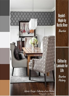 A plush and comfortable dining space from designer Catherine-Lucie Horber -  Royal Interior Design Ltd. Social Media