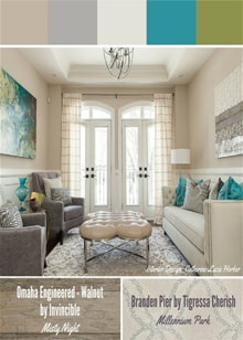 Soft Neutrals with Bright Pops of Colour -  Royal Interior Design Ltd. Social Media