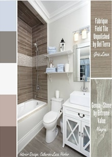 Small Bathroom by Catherine-Lucie Horber -  Royal Interior Design Ltd. Social Media