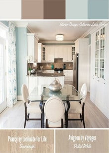 Gorgeous Kitchen and Dining Space by Catherine-Lucie Horber  -  Royal Interior Design Ltd. Social Media