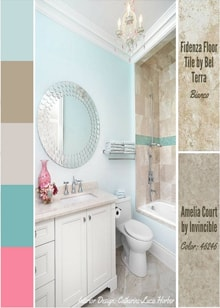 A Light Bright Bathroom With Feminine Details -  Royal Interior Design Ltd. Social Media