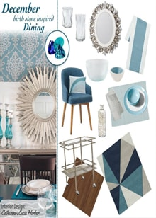 December Birthstone Inspired Dining - Royal Interior Design Ltd. Social Media