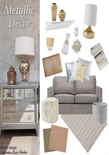 Metallic Home Decor -  Royal Interior Design Ltd. Social Media