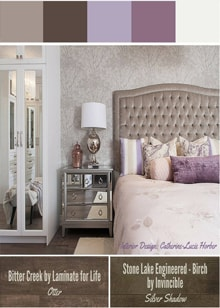 Lovely Bedroom Design With Purple and Silver Color -  Royal Interior Design Ltd. Social Media