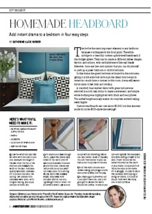 Add Instant Drama to a Bedroom in Four Easy Steps - Magazine mentions for Royal Interior Design Ltd.