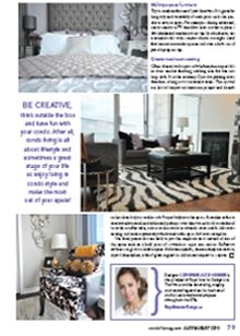 Magazine mentions for Royal Interior Design Ltd. - Condo Living All About Lifestyle