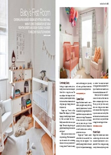 Baby's First Room - Magazine mentions for Royal Interior Design Ltd.