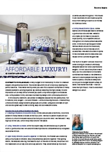 Affordable Luxury - Magazine mentions for Royal Interior Design Ltd.